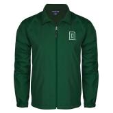 Full Zip Dark Green Wind Jacket-Dartmouth D