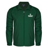 Full Zip Dark Green Wind Jacket-D Dartmouth Stacked