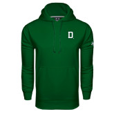 Under Armour Dark Green Performance Sweats Team Hood-Dartmouth D