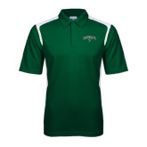 Dark Green Textured Gameday Polo-Arched Dartmouth w/D