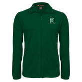 Fleece Full Zip Dark Green Jacket-Primary Mark