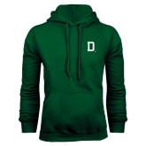 Dark Green Fleece Hood-Dartmouth D
