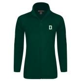 Ladies Fleece Full Zip Dark Green Jacket-Dartmouth D