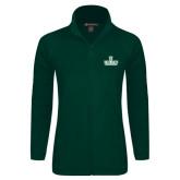 Ladies Fleece Full Zip Dark Green Jacket-D Dartmouth Stacked
