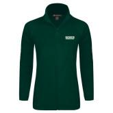 Ladies Fleece Full Zip Dark Green Jacket-Dartmouth Big Green