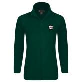Ladies Fleece Full Zip Dark Green Jacket-Dartmouth Ski