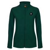 Ladies Fleece Full Zip Dark Green Jacket-D Snowflake