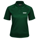 Ladies Dark Green Textured Saddle Shoulder Polo-Dartmouth Big Green