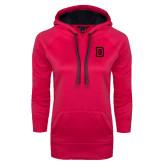 Ladies Pink Raspberry Tech Fleece Hoodie-Dartmouth D