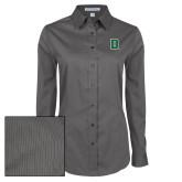 Ladies Grey Tonal Pattern Long Sleeve Shirt-Primary Mark