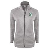 Grey Heather Ladies Fleece Jacket-Dartmouth D