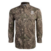 Camo Long Sleeve Performance Fishing Shirt-Dartmouth D