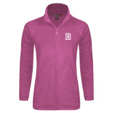 Ladies Fleece Full Zip Raspberry Jacket-Dartmouth D