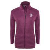 Dark Pink Heather Ladies Fleece Jacket-Dartmouth D