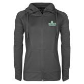 Ladies Sport Wick Stretch Full Zip Charcoal Jacket-Dartmouth