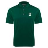 Dark Green Dry Mesh Polo-Dartmouth D