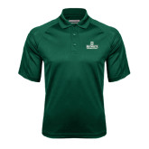 Dark Green Textured Saddle Shoulder Polo-Dartmouth Big Green