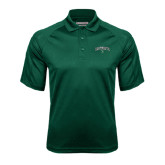 Dark Green Textured Saddle Shoulder Polo-Arched Dartmouth w/D