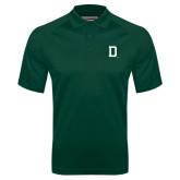 Dark Green Textured Saddle Shoulder Polo-Dartmouth D