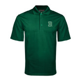 Dark Green Mini Stripe Polo-Dartmouth D