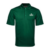 Dark Green Mini Stripe Polo-Dartmouth Big Green