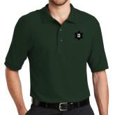 Dark Green Easycare Pique Polo-D Snowflake
