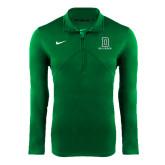 NIKE Green Dri Fit Training 1/4 Zip Top-