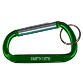 Green Carabiner with Split Ring-Dartmouth Engraved
