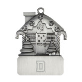 Pewter House Ornament-Dartmouth D Engraved