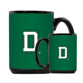 Full Color Black Mug 15oz-Dartmouth D