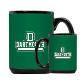 Full Color Black Mug 15oz-D Dartmouth Stacked