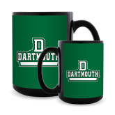 Full Color Black Mug 15oz-Dartmouth