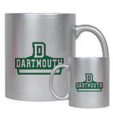 11oz Silver Metallic Ceramic Mug-D Dartmouth Stacked