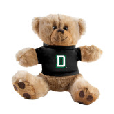 Plush Big Paw 8 1/2 inch Brown Bear w/Black Shirt-Dartmouth D