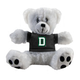 Plush Big Paw 8 1/2 inch White Bear w/Black Shirt-Dartmouth D