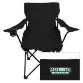 Deluxe Black Captains Chair-Dartmouth Big Green