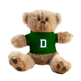 Plush Big Paw 8 1/2 inch Brown Bear w/Dark Green Shirt-Dartmouth D