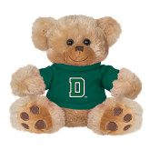Plush Big Paw 8 1/2 inch Brown Bear w/Dark Green Shirt-Primary Mark
