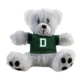 Plush Big Paw 8 1/2 inch White Bear w/Dark Green Shirt-Dartmouth D