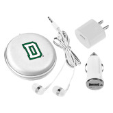 3 in 1 White Audio Travel Kit-Dartmouth D