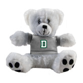Plush Big Paw 8 1/2 inch White Bear w/Grey Shirt-Dartmouth D