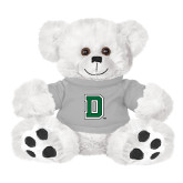 Plush Big Paw 8 1/2 inch White Bear w/Grey Shirt-Primary Mark