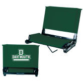 Stadium Chair Dark Green-D Dartmouth Stacked