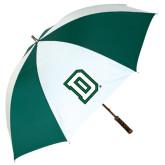 62 Inch Forest Green/White Umbrella-Dartmouth D