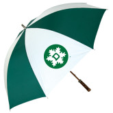 62 Inch Forest Green/White Umbrella-Dartmouth Ski