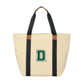 Natural/Black Saratoga Tote-Primary Mark