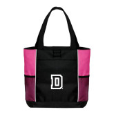 Black/Tropical Pink Panel Tote-Dartmouth D