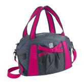 Graphite/Pink Duffel Bag-Dartmouth D