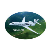Small Decal-Falcon 5X Over Green Landscape