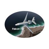 Small Decal-Falcon 7X Over Beach